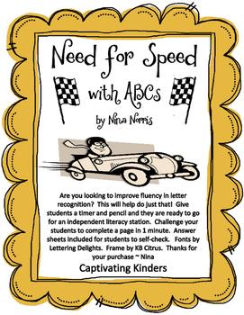 Need for Speed - Alphabet