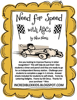 Need for Speed with ABCs
