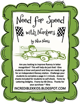 Need for Speed with Numbers