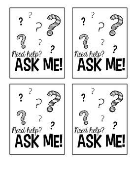 Need help? Ask Me Lanyards