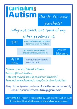 Need or Want Cards Autism Special Education