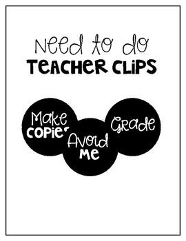 Need to do - Teacher Clips