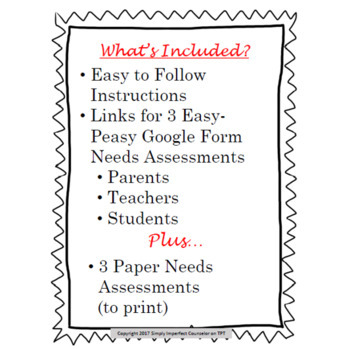 Needs Assessments for School Counselors