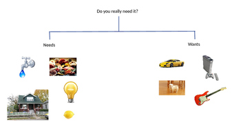 Needs Vs. Wants PowerPoint and Sort