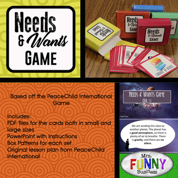 Needs & Wants Game