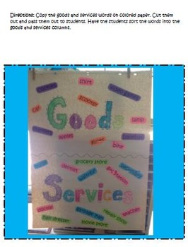 Wants & Needs - Goods & Services Bundle