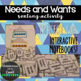 Needs & Wants INB Sort
