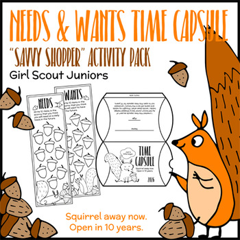 """Needs & Wants Time Capsule - Girl Scout Juniors - """"Savvy Shopper"""" (Step 5)"""