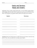 Needs & Wants Worksheet