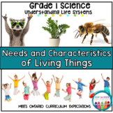 Needs and Characteristics of Living Things Grade 1 Science Unit
