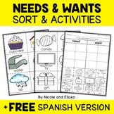 Interactive Needs and Wants Activities