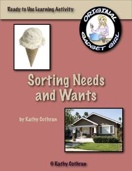 Needs and Wants: A Sorting Learning Activity