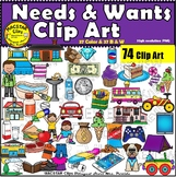 Needs and Wants BUNDLE  Clip Art Images  Economics ClipArt