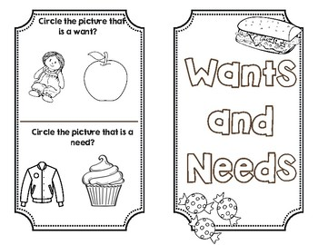 Needs and Wants Booklet