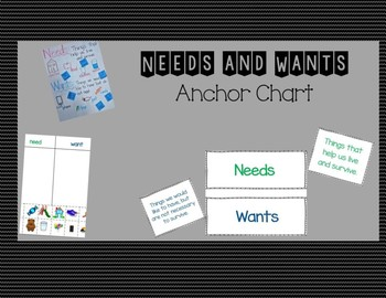Needs and Wants Bundle