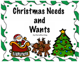 Needs and Wants Christmas Activities Reader