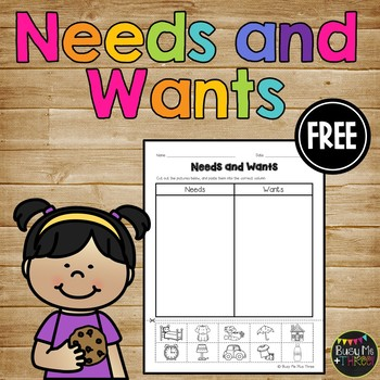 Worksheets Needs And Wants Worksheet Cut And Paste needs and wants cut pas by busy me plus three teachers paste worksheet for k 1 2