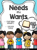 Needs and Wants {Emergent Readers & Sorting Cards Pack}