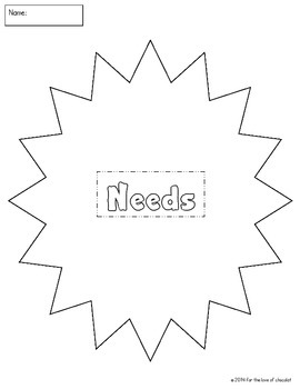 Needs and Wants FREE
