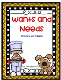 Wants and Needs Foldable and Activites