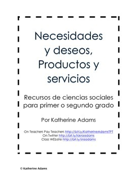 Needs and Wants, Goods and Services in Spanish