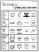 Needs and Wants, Goods and Services, Community Workers Foldables and Printables