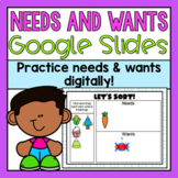 Needs and Wants Google Slides (Distance Learning)