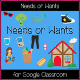 Needs and Wants (Great for Google Classroom)