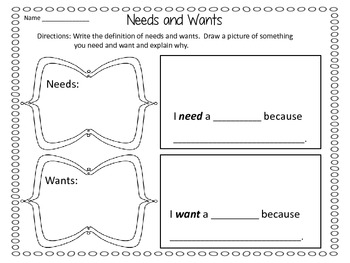 Needs and Wants - If You Give a Moose a Muffin by Laura Numeroff