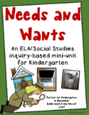 Needs and Wants Kindergarten