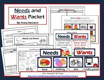 Needs and Wants Packet
