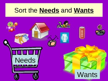 Needs and Wants Powerpoint with sort