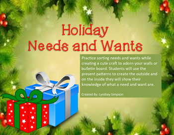 Needs and Wants Present Craft