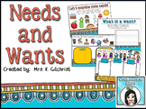 Needs and Wants Promethean ActivInspire Flipchart Lesson