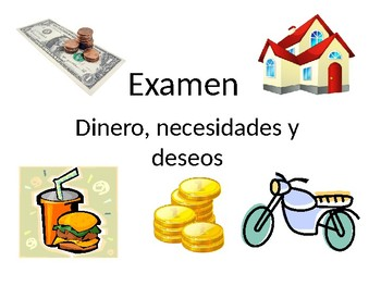 Needs and Wants Quiz-Spanish