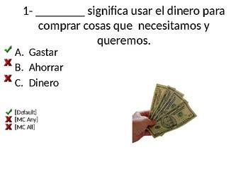 Needs and Wants Quiz-Spanish