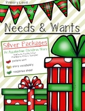 Needs and Wants Silver Packages by Cynthia Rylant- Christmas