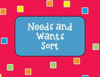 Needs and Wants Sort