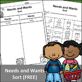 Needs and Wants Sort (FREE)