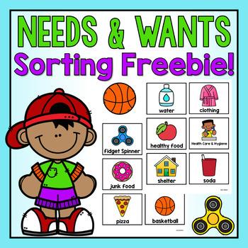 Needs and Wants Sort FREEBIE