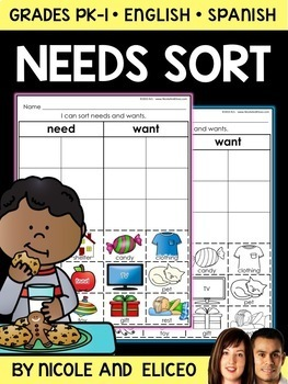 Interactive Sorting - Needs and Wants Activity