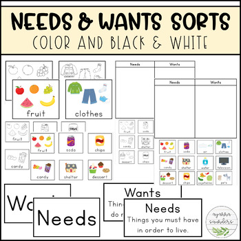 Needs and Wants Sorts
