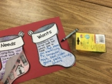 Needs and Wants Stocking Activity English and French