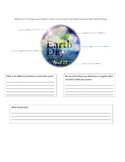 Needs and Wants Survey Sheet Earth Day Lorax Lesson Intro