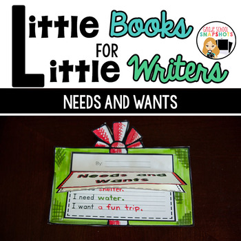 Needs and Wants Writing