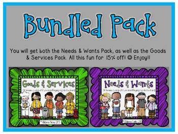 Needs and Wants/Goods and Services: For Little Learners BUNDLED