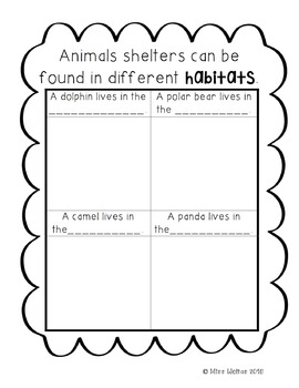 Needs of Animals Mini Unit
