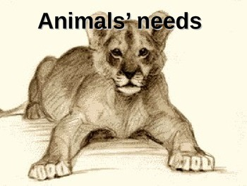 Needs of Living Things:Animal Needs (animations) (Includes 3D anaglyph red/blue)