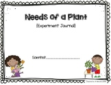 Needs of Plants Experiment Journal