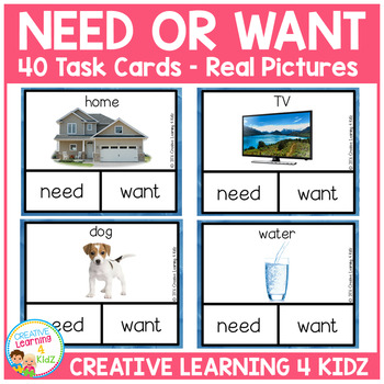 Needs or Want Clip Cards